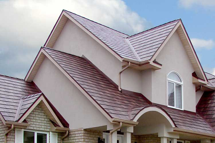 Photo of completed roofing project