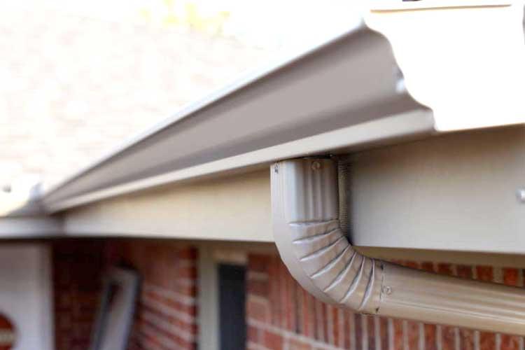Photo of seamless steel gutters